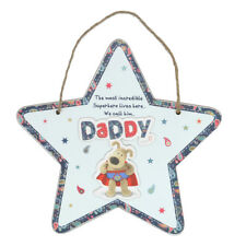 Boofle Superhero Daddy Hanging Wooden Plaque Father's Day Birthday Gift
