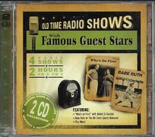 OLD TIME RADIO SHOWS with Famous Guest Stars - Near-Mint / 2 hrs on 2 CDs