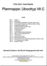 Köhl Niestlé Planmappe: Uboottyp VII C Planrolle U-Boot Modellbau Marine WK 2