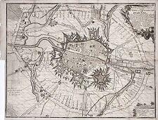 Antique map, Der grundriss der stadt und cittadelle von Dornik