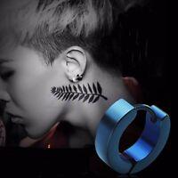 Punk Men's Steel Ring Studs Styled Clip On Earrings Ear Accessories