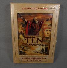 The Ten Commandments DVD 50th Anniversary Collection Charlton Heston New Sealed