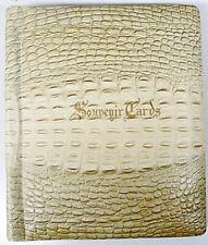 VINTAGE UNUSED FAUX ALLIGATOR SOUVENIR CARDS / SCRAPBOOK