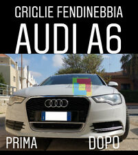 AUDI A6 4G 2010-2014 GRIGLIE FENDINEBBIA RS6 NIDO D'APE - BLACK IN ABS