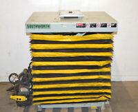 "Southworth 38"" x 30"" Hydraulic Scissor Lift Table 42""H 1500-lbs w/ Swivel"