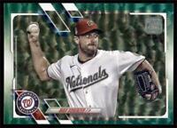 2021 Topps Series 1 Base Green #325 Max Scherzer /499 - Washington Nationals