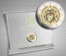 2 EURO COMMEMORATIVO VATICANO 2013 SEDE VACANTE PAPA FRANCESCO PAPA BENEDETTO