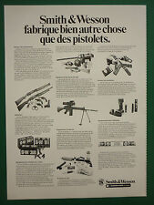 8/1979 PUB SMITH & WESSON PISTOLETS CARABINES MUNITIONS VISION NUIT ORIGINAL AD