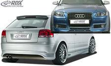 RDX Bodykit Audi A3 8P 06-08 Spoiler-Set Front Heck Ansatz Seitenschweller