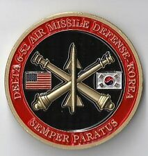 Delta 6-52 Air Missile Defense Army Challenge Coin