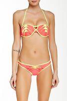 Beach Bunny Womens Swimwear Hipster Hot Pink Lunar Bandeau Bikini Size S
