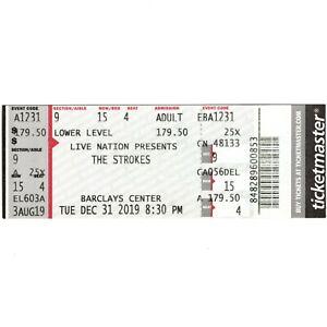 THE STROKES Full Concert Ticket Stub BROOKLYN NY 12/31/19 NEW YEARS EVE Rare