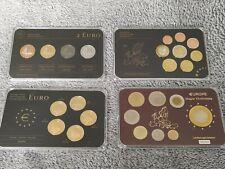 Europe Lot x 4  Precious Metal Set Gold Ruthenium Platinum Plated COA coins