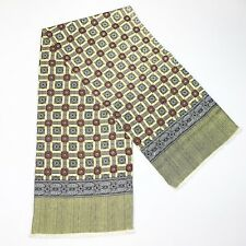 FLORAL YELLOW Foulard Cotton Scarf WRAP FOR MEN  54/12 In
