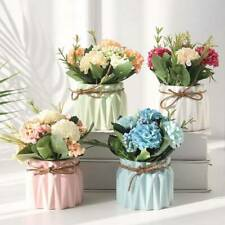 Artificial Flower Hydrangea Potted Plant For Wedding Party Christmas Decor/ wgfb