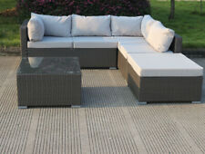 Levanzo Modular Wicker Outdoor Patio Setting With Chaise and Table Brown