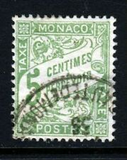 MONACO 1905 5 Cents Green POSTAGE DUE SG D30 VFU