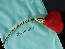 Tiffany & Co 18K Yellow Gold Elsa Peretti Amapola Red Silk Brooch Poppy Flower