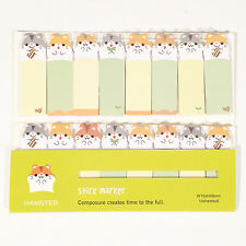120 Sheets Hamsters Animal Mini Sticky Notes Page Marker Memo Tab Sticker UK