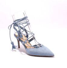 Nando Muzi 178c Sky Blue Suede Strappy Pointy Stiletto Heel Sandal 38.5 / US 8.5