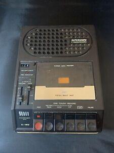Marantz Superscope Model C-180 Portable Cassette Tape Player and Recorder