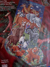 Christmas Holiday Bucilla Needlepoint Stocking Kit,NOAH'S ARK,Rossi,60737,18""