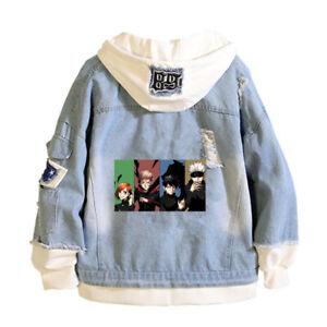 Jujutsu Kaisen Satoru Gojo Denim Jacket Bomber coat spring Casual hoodie jeans