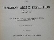 Canadian Arctic Expedition 1913-18  VIII Mollusk Echinoderm Coelenterate Part E