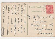 Mr D M Davies Canford Belle Vue Road West Cross Swansea 1928 294a