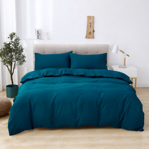 1set Soft Sanding Bedding Set Standard Queen King Size Pillowcase Duvet Cover