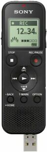 Sony ICD-PX370 Mono Digital Voice Recorder with Built-In USB Black NEW