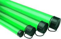 Clear GREEN Plastic ROD Tube (fishing rod tube holder)