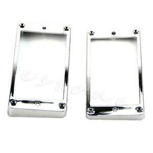 2pcs Pickup Plated Chrome Frame Mounting Rings Humbucker For LP Electric Guitar