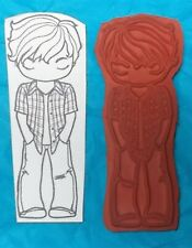 Teenager teen boy rubber stamp scrapbooking stamps the greeting farm unmounted