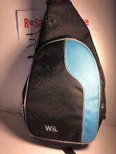 Nintendo Wii Soft Carry Case Mini Backpack Black Blue Shoulder Bag Storage Purse