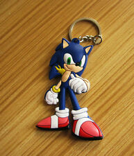 super sonic the hedgehod silicone keychain rubber key chain gift new
