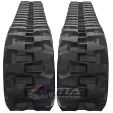 Two Rubber Tracks Fits Bobcat E32 E26 300x525x80 T1 Tread Pattern