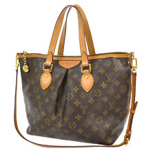AUTH LOUIS VUITTON PALERMO PM 2WAY HAND TOTE BAG PURSE MONOGRAM M40145 B31234