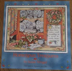 NEW IN BOX!!! HOMESPUN TREASURES BY SUSAN WINGET 750 PIECE JIGSAW PUZZLE