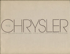 1972 Chrysler 38-page Car Sales Brochure Catalog - Imperial Newport New Yorker