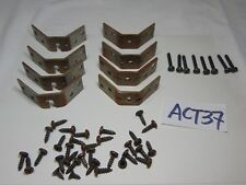VINTAGE SINGER SEWING MACHINE CABINET LEG BRACKETS  AND SCREWS REPLACEMENT