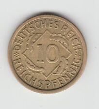 Germany Weimar 10 pfennig 1933 A VF rare