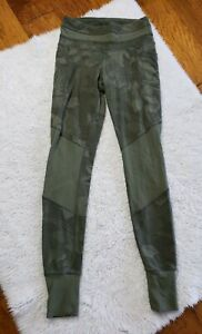 Athleta Tropical Excursion Tight Jogger Leggings Olive Green Floral Size XS