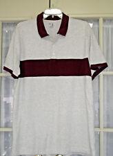Men's GAP Polo Shirt Size XL Burgundy Lt Gray