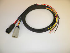 """Harley 07 - 13 switch wiring extension  BRAIDED FLEX 42 x 48"""" Molex plugs wire"""