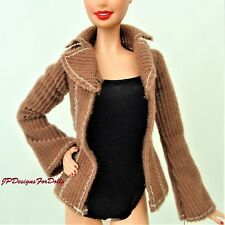 Barbie Doll Outfit Clothes Brown Corduroy Jacket My Scene Tag