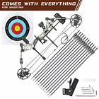 20-70lbs Pro Compound Right Hand Bow Kit Archery Arrow Target Hunting Camo Set