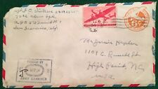 World War II – U.S. Army Censor Cover - 4 April, 194? – UC5 or 6 w/C25 tied