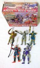 1998 Bandai Mystic Knights Of Tir Na Nog 5 COMPLETE Jousting Figures W/ Box RARE