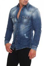 JACK & JONES - ROYAL SHIRT - Camicia jeans uomo maglia